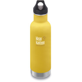 Klean Kanteen Classic Vacuum Insulated Bottle Loop Cap 592ml, lemon curry matt